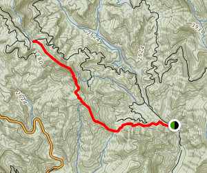 Bennett Gap Trail Map