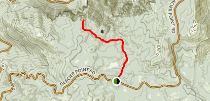 Dewey Point via Pohono Trail Map