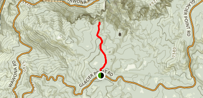 Dewey Point Trail Map