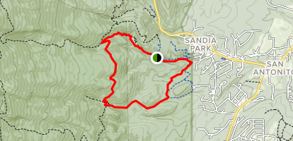 Armijo Trail and Faulty Trail Loop Map