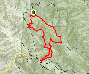Middle Ridge via Flat Frog and Fish Trails Map
