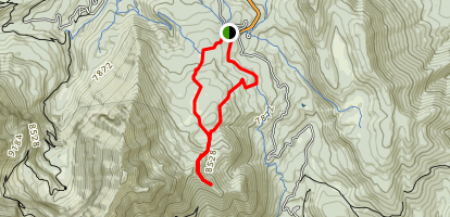 Primrose Overlook and Horse Spring Trail Loop Map
