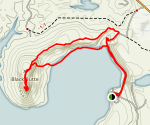 Black Butte Lake Trail Map