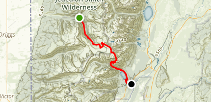 Teton Canyon to Phelps Lake via Alaska Basin Trail Map