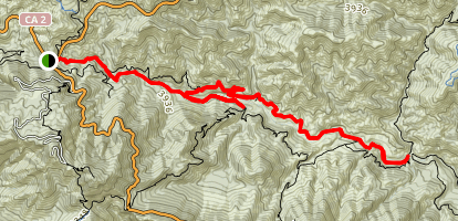 Red Box Trail to West Fork Campground Map