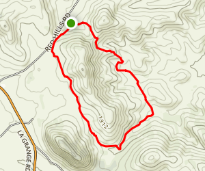 Red Hills Short Loop Map