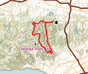 San Vicente Mountain to Rustic Canyon Loop Trail Map