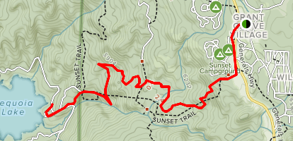 Sequoia Lake Trail Map