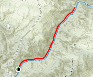 Outram Glen to Lee Stream Map