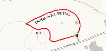 Canemah Bluffs Trail Map