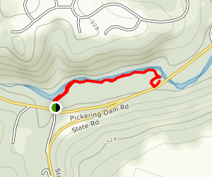 Pickering Dam Trail Map