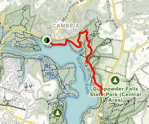 Loch Raven Power Line Trail Map
