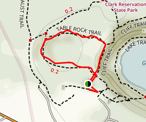 Cliff, Table Rock, and Mildred Faust Trail Map