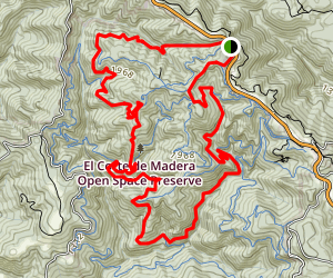 El Corte De Madera Trail Sampler Loop- El Corte Madera Creek Trail and Fir Trail  Map