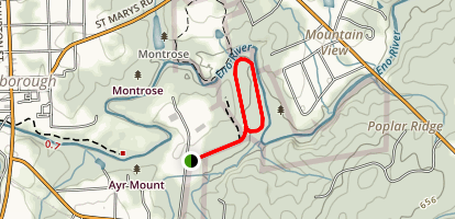 Historic Occoneechee Speedway Trail Map