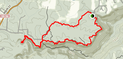 Laurel, Greeter Falls, BCR and Stone Door Loop Map
