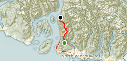 Howe Sound Crest Trail: Cypress Lodge to HWY 99 Map