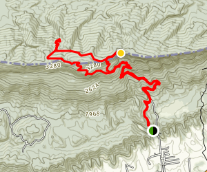 Sand Cave and White Rocks Via Ewing Trail Map