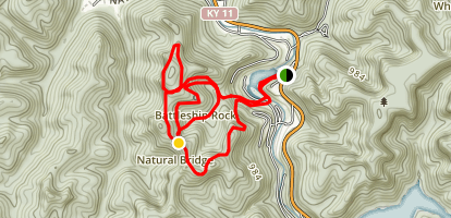 Natural Bridge and Battleship Rock Trail Map