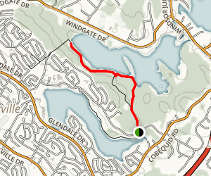 Great Oak and Second Lake Trail Map