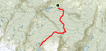 Upper Cataract Lake Trail Map