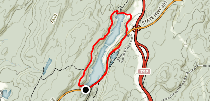 Canopus Lake Trail Map