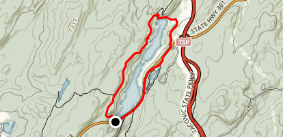 Canopus Lake via Appalachian Trail Loop Map