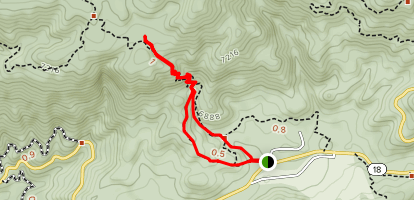 Little Green Valley Trail Map