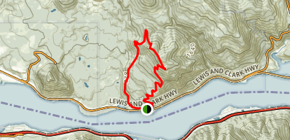 Dog Mountain Loop Trail Map