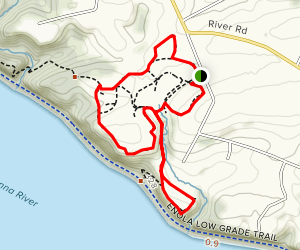 Turkey Hill and Chestnut Grove Trail Loop  Map