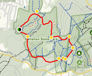 Backpacker Trail to Bear Paw Loop Map