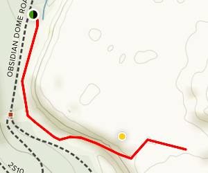 Obsidian Dome Trail Map