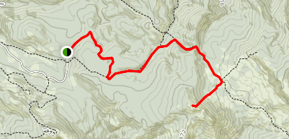 Moody Swamp to Red Butte Map