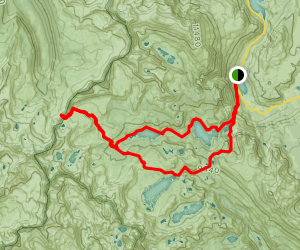 Donohue Pass via Rush Creek and John Muir Trail Map
