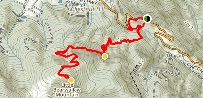 Little Bearwallow Trail Map