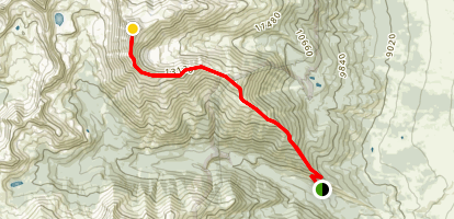 Mount Columbia: Southeast Ridge Map