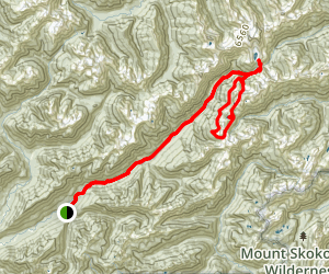 Enchanted Valley with O'Neil Pass Loop and Anderson Glacier Trek Map