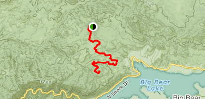 Hanna Flat to Grays Peak Map
