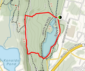 Lake Wintergreen and Regicides Trail (Blue Blaze) Loop Map