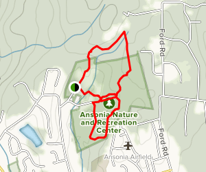 Ansonia Nature Center Hike Map