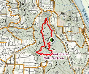 Terwilliger Trail to Lewis and Clark Trail and Big Fir Trail Map