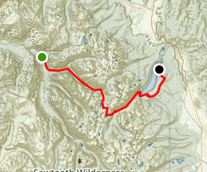 Grandjean to Redfish via Baron Lake Map
