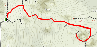 Hinakapoula to Hainoa Crater Trail [PRIVATE PROPERTY] Map