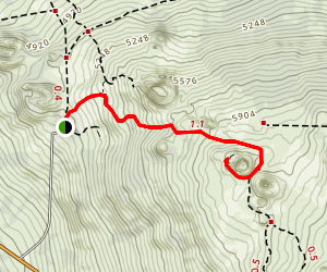 Hinakapoula to Halnoa Crater Trail (PRIVATE PROPERTY) Map