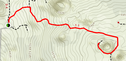 Hinakapoula to Halnoa Crater Trail [PRIVATE PROPERTY] Map