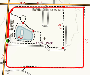 Cottell Park Track Map