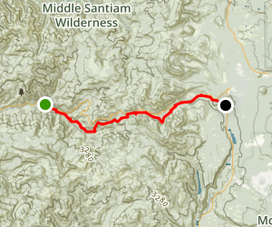 Santiam Wagon Trail Map