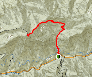 Grandeur Peak Trail from Church Fork Map