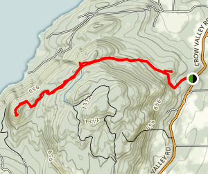Turtleback Mountain to Orcas Knob Map
