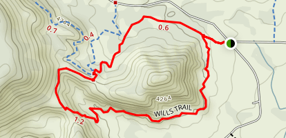Pyramid to Scorpion Trail Loop Map